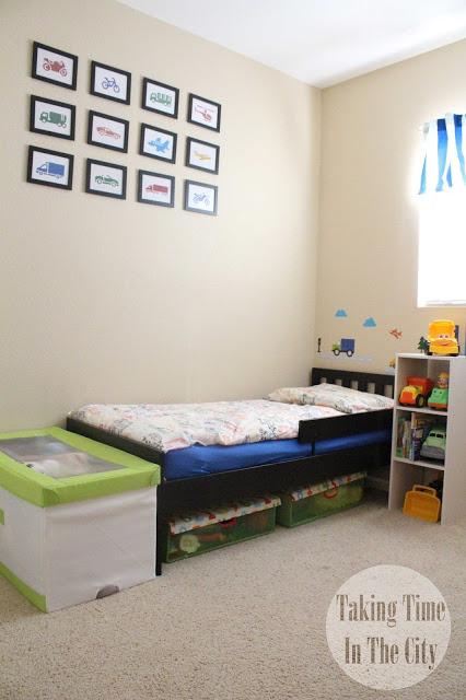 Our Boy Life - Transportation Big Boy Bedroom