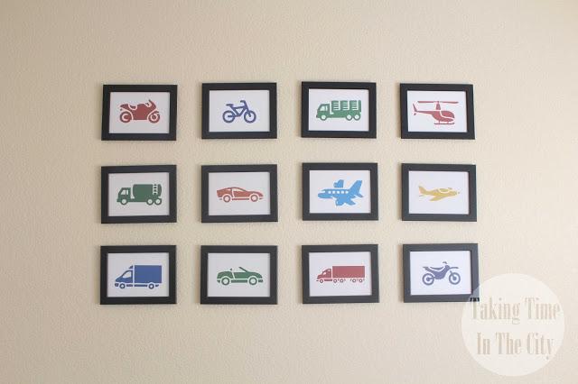 Our Boy Life - Transportation Bedroom Wall Art