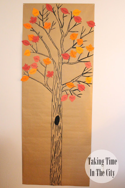 Our Boy Life | Thanksgiving Thankful Tree with Leaves