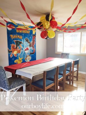 Pokemon Birthday Party - Our Boy Life