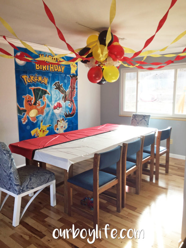 Pokemon Birthday Party Table Decorations- Our Boy Life