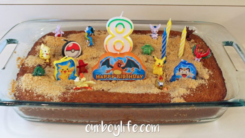 Pokemon Birthday Party Cake Decorations- Our Boy Life