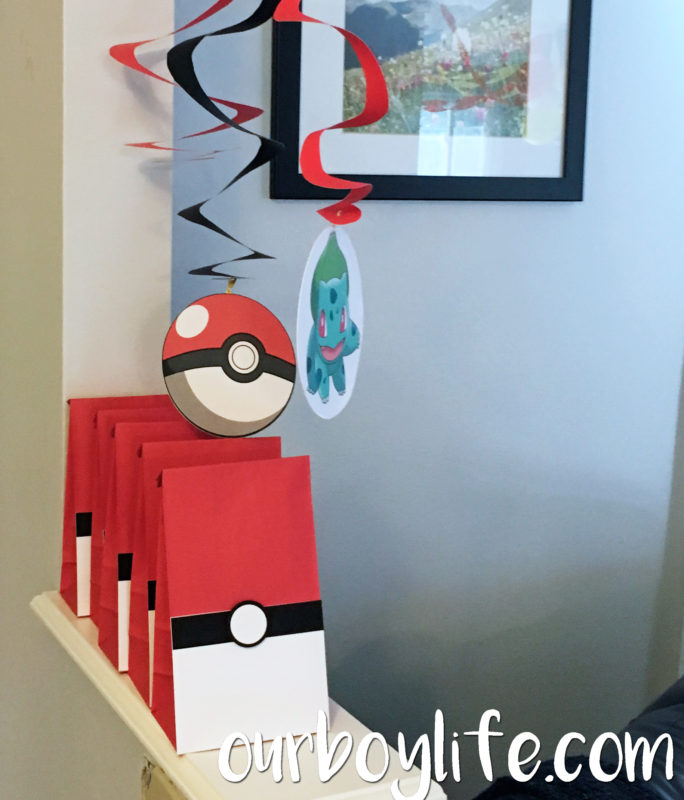 Pokemon Birthday Party Favors and Decorations- Our Boy Life