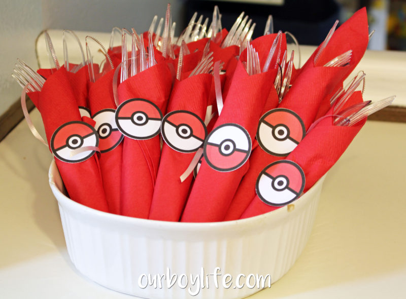 Pokemon Birthday Party Plasticware Rolls- Our Boy Life
