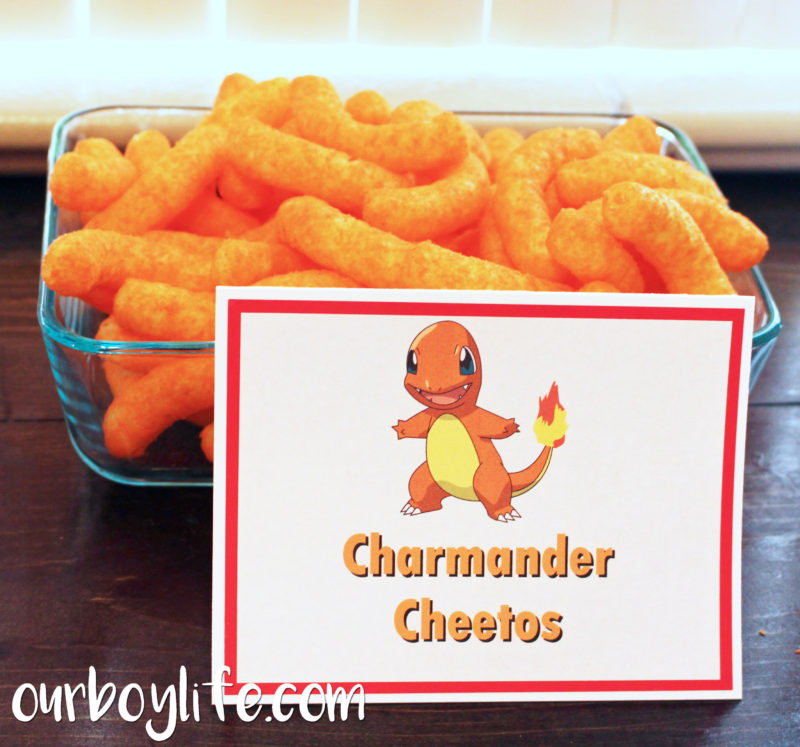 Pokemon Birthday Party Charmander Cheetos- Our Boy Life