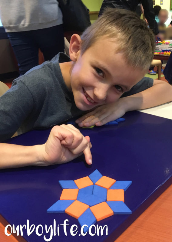 Our Boy Life - Making shapes from magnets