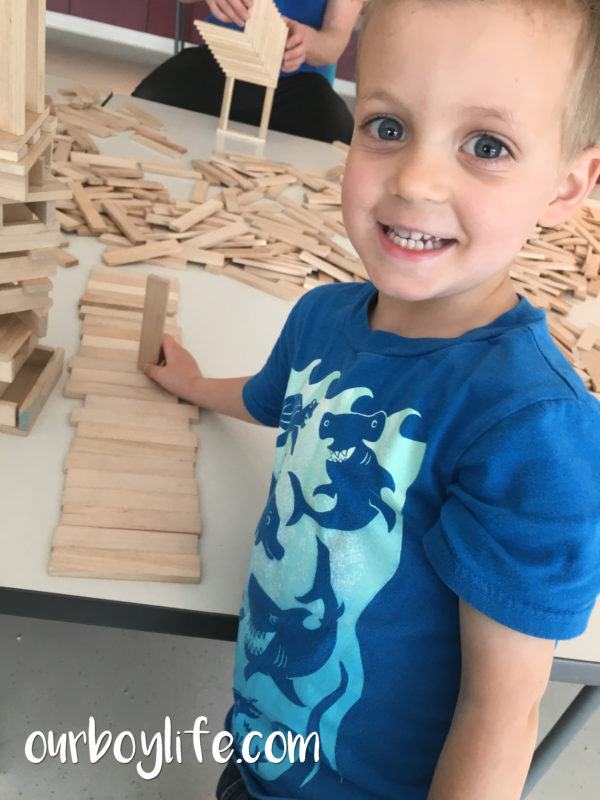 Our Boy Life - Building with blocks