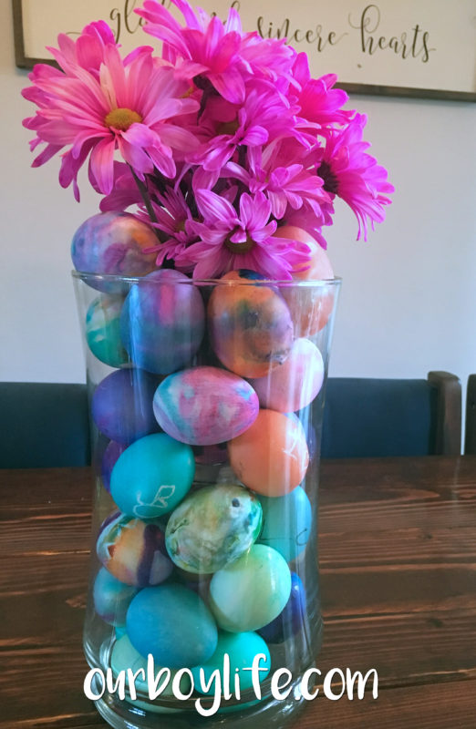 Our Boy Life - Easter Egg Centerpiece Decoration