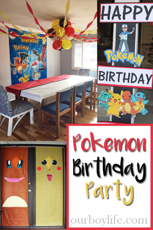 Pokemon Birthday Party Ideas - Our Boy Life