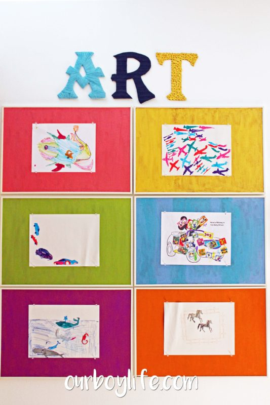 Our Boy Life - Kids' Art Display