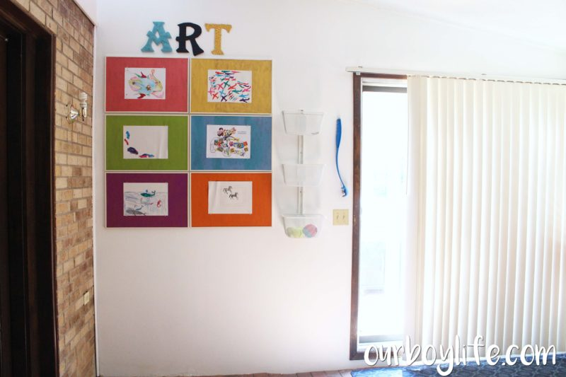 Our Boy Life Kids' Art Wall
