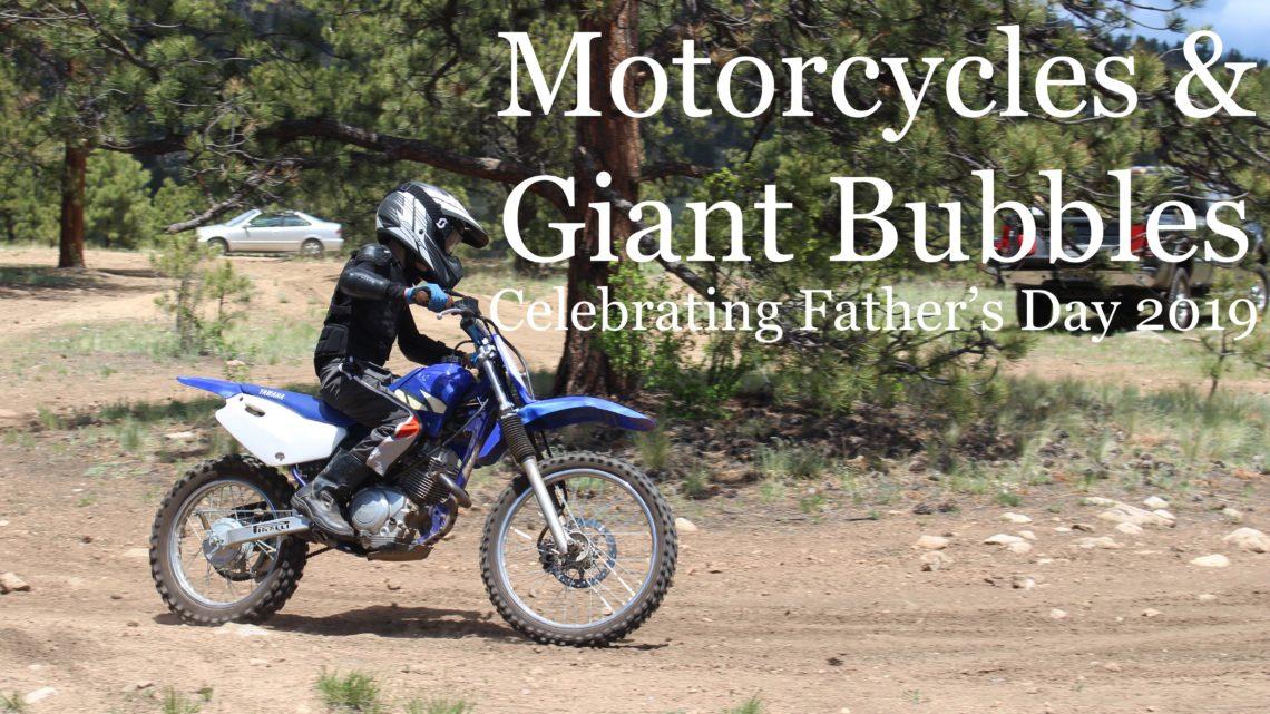 Riding a motorcycle in the Colorado mountains