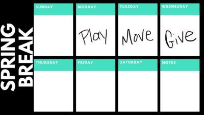 Spring break calendar