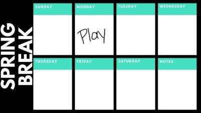 Planning spring break calendar